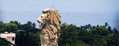 Merlion  statue on  Sentosa Island, Singapore