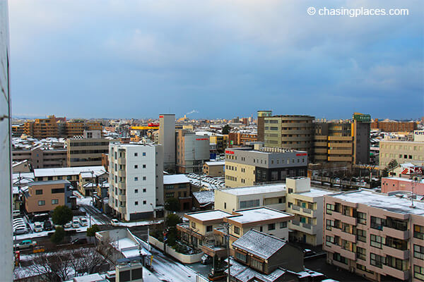 The view of Kanazawa from our hotel room.