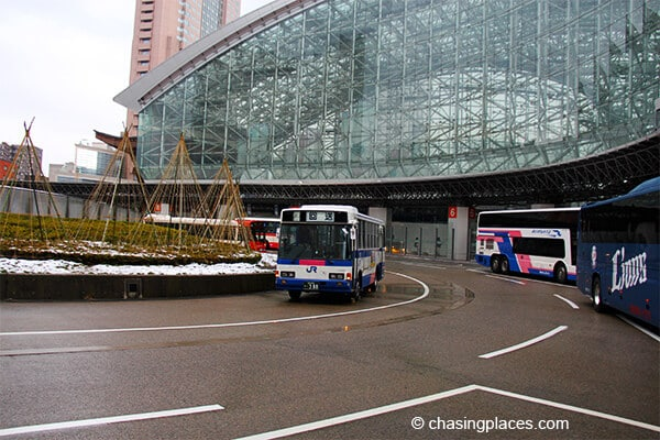 We took Kanazawa's public buses around the city