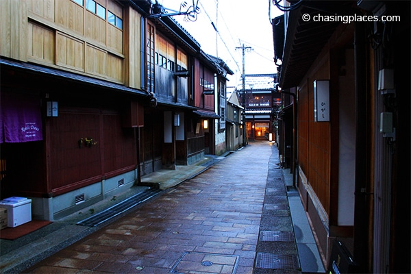 A narrow street-in Kanazawa's Geisha District
