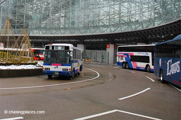 We stayed right near Kanazawa station to access the local buses
