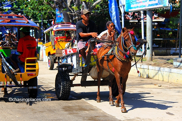 Gili T's most popular form of transport