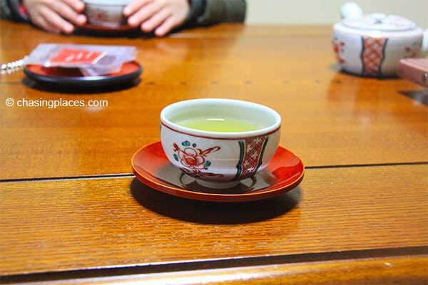 Our freshly served ryokan tea