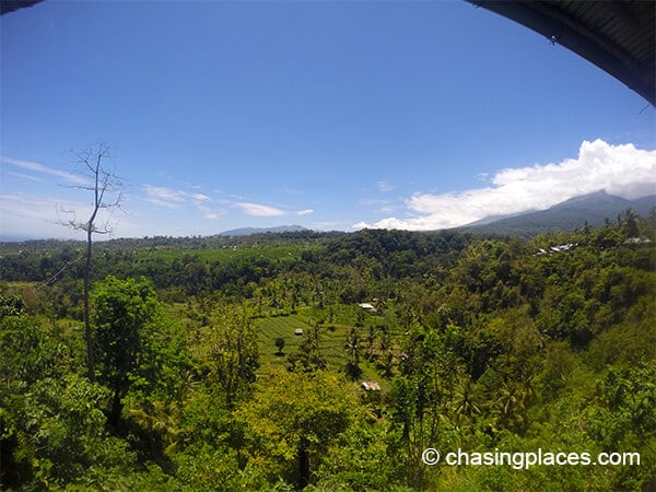 A beautiful view from a property in senaru near mount rinjani