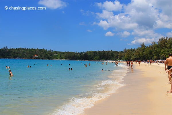 Popular Kata Beach Phuket Thailand