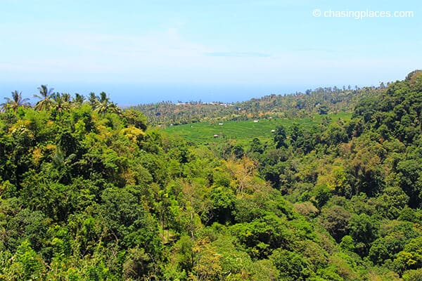 The sweeping view from Senaru Lombok
