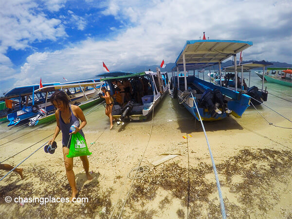 Boat tours is a very common activity on Gili Trawangan..