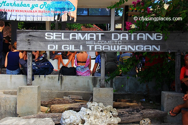 Gili Trawangan is very welcoming!