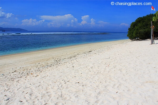 The beautiful sand of Gili Trawangan