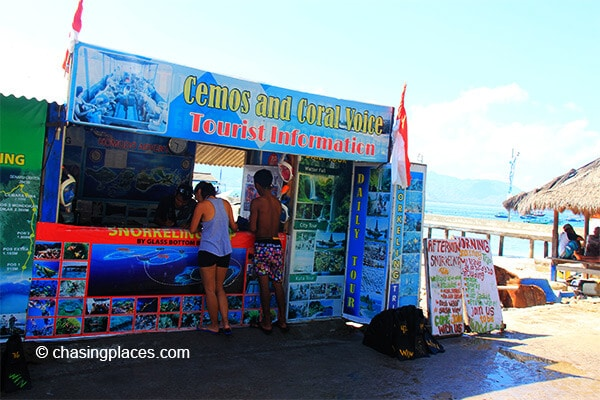 There are many tour agencies to choose from on Gili Trawangan