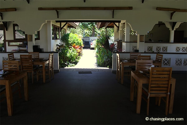 The restaurant and entrance area Rinjani Lodge