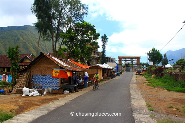 This is the gateway to the trekking path for Mount Rinjani