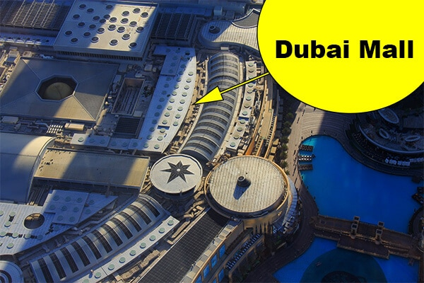 A bird-eye view from the Burj Khalifa's Viewing Platform