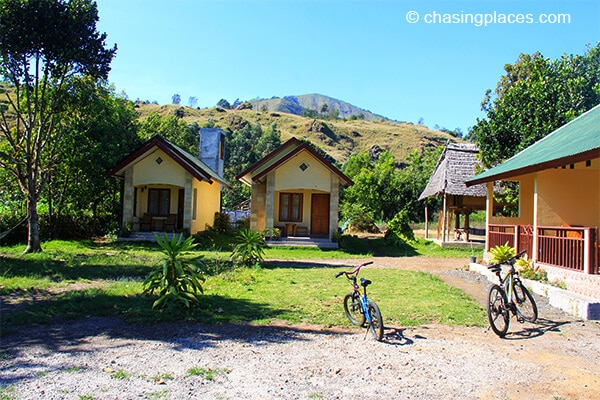 The look of our accommodation from the outside. That BMX bike you see in the picture is what drove through town - not my finest moment..