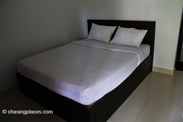 The bed is comfortable and clean at our guesthouse.