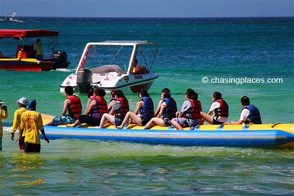 Banana boats are also popular on Boracay