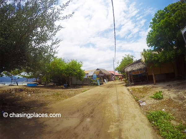 The road around Gili Air