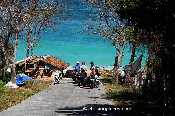The entrance to Ilig-Iligan. You can hire locals to drive you back to White Beach on a motorcycle. Be sure to haggle the price as they tend to overcharge.