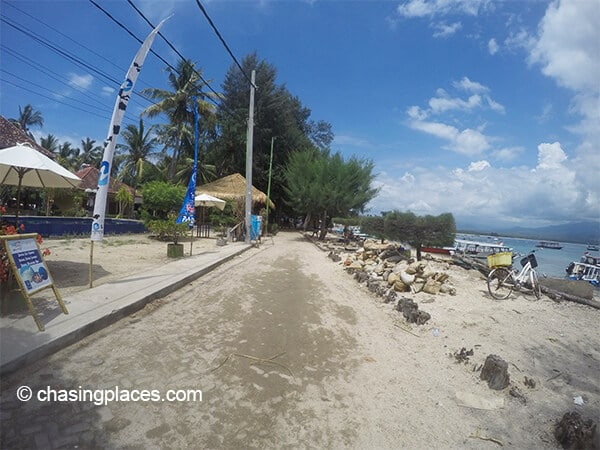 A look at the coast of Gili Air
