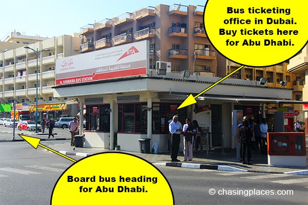 The Bus Ticket Office at Al Ghubaiba Station.
