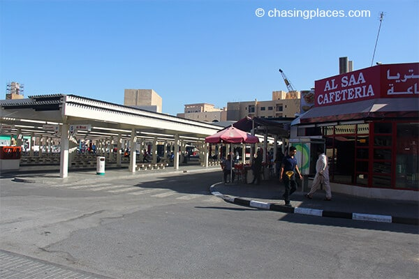 The surroundings of the Al Ghubaiba Bus Station, Dubai